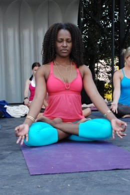 The lotus pose is one of several poses that can help to increase fertility. Photo by lululemon athletica on Flickr.