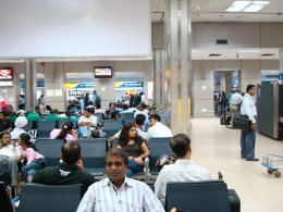 Author waiting in Delhi Airport