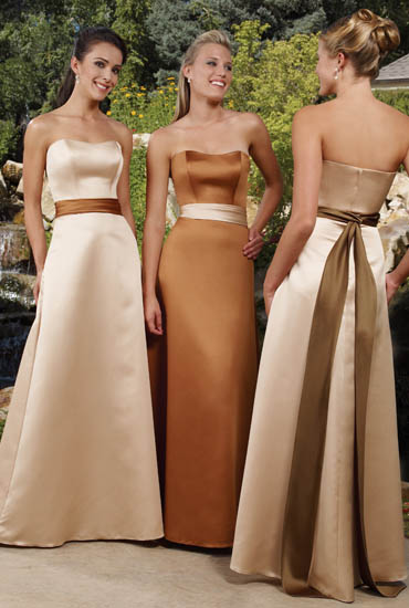 Bridesmaid Dresses:Raylia Bridesmaid Dresses 8300Z This beautiful floor length A-line gown features strapless sweetheart neckline. Gown features optional alternate trim color. Zip back