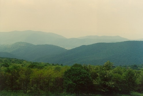 Looking west from Skyline Drive.