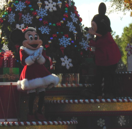 Some people find themselves comfortable if they only see Mickey and Minnie at a safe distance.