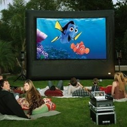 Backyard Movie Theater Birthday Party Ideas