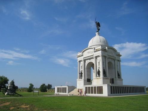 Pennsylvania memorial installation for the American Civil War Gettysburg Battlefield, Gettysburg PA.