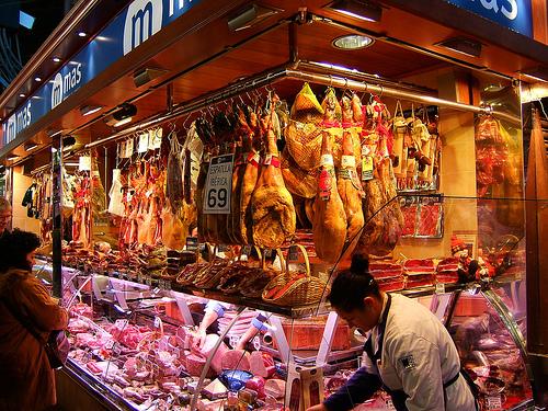 La Boqueria food market, Barcelona Spain