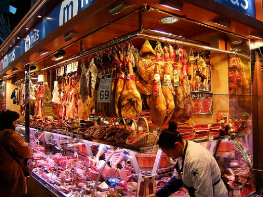 La Boqueria food market, Barcelona Spain