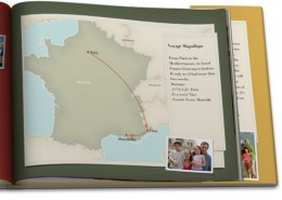 iPhoto Travel Map book example