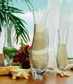 Personalized Unity Sand Ceremony Vase Set
