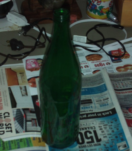 Start with a plain glass bottle.