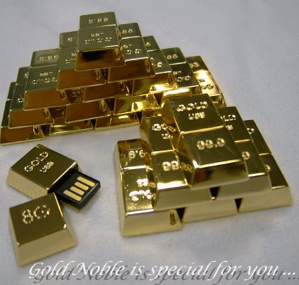 24K Gold Plated USB Drive
