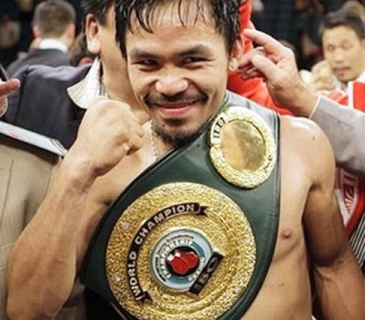Manny Pacquiao displaying the form that makes him a consummate boxer.