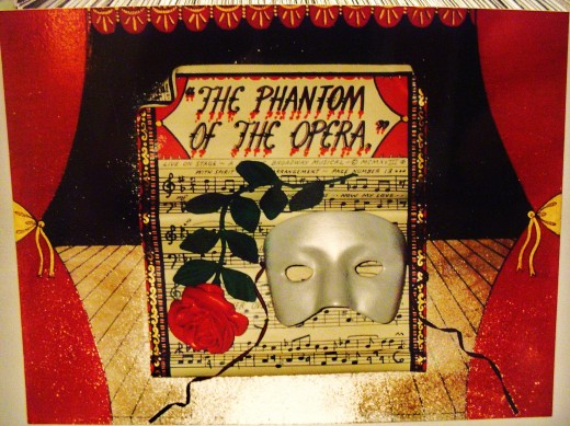 Phantom Of The Opera wall Sculpture aprox. 3' x 2' in size   Not for sale