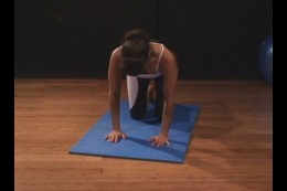 Correct positioning for the vacuum exercise