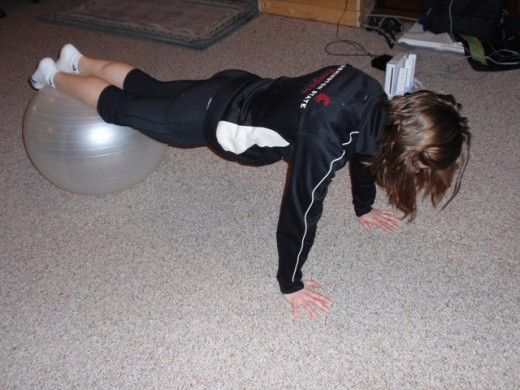 Roll ins with stability ball.