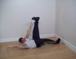 Finger to toe ab crunches.