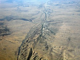 The San Andreas Fault, in the Carrizo Plain