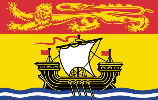 NB provincial flag - image from media tourismnewbrunswick.ca