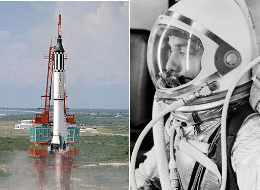 Alan Shepard and the launch of Freedom 7. Photo courtesy of NASA.