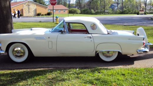 """56 T-bird removable hard top"