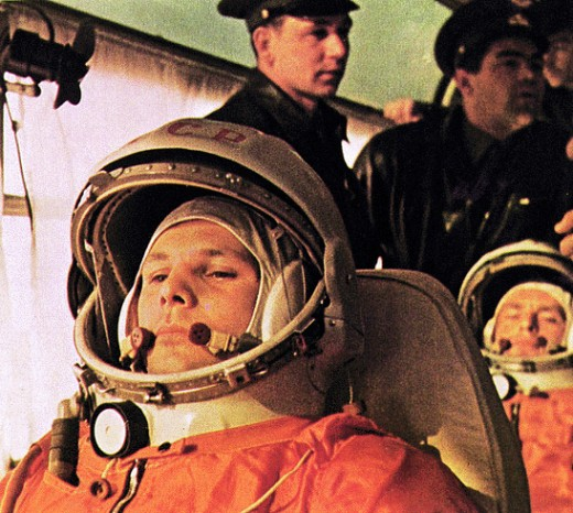 Soviet cosmonaut Yuri Gagarin, the first man in space. Photo courtesy of NASA.
