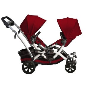 double stroller child seats facing each other