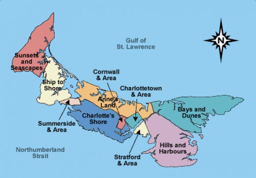 A map of the island from lank.com