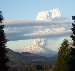 The 2004 eruption of Mt St Helens volcano shows that it has not quieted down.