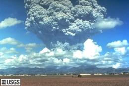 Mt Pinatubo in the Philippines was a major eruption, verging on being a super-volcanic eruption, affecting world wide weather from 1991.