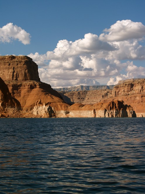 Everything changes continually on Lake Powell.  The position of the sun creates mood changes that will take your breath away...
