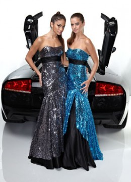 Prom Dress: Davinci Prom Dress Style 1335 Sequins Satin