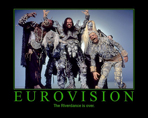 Lordi winners in 2006.For the first time since Abba in the 70's a group that truly summed up the image of the Eurovision Song Contest.