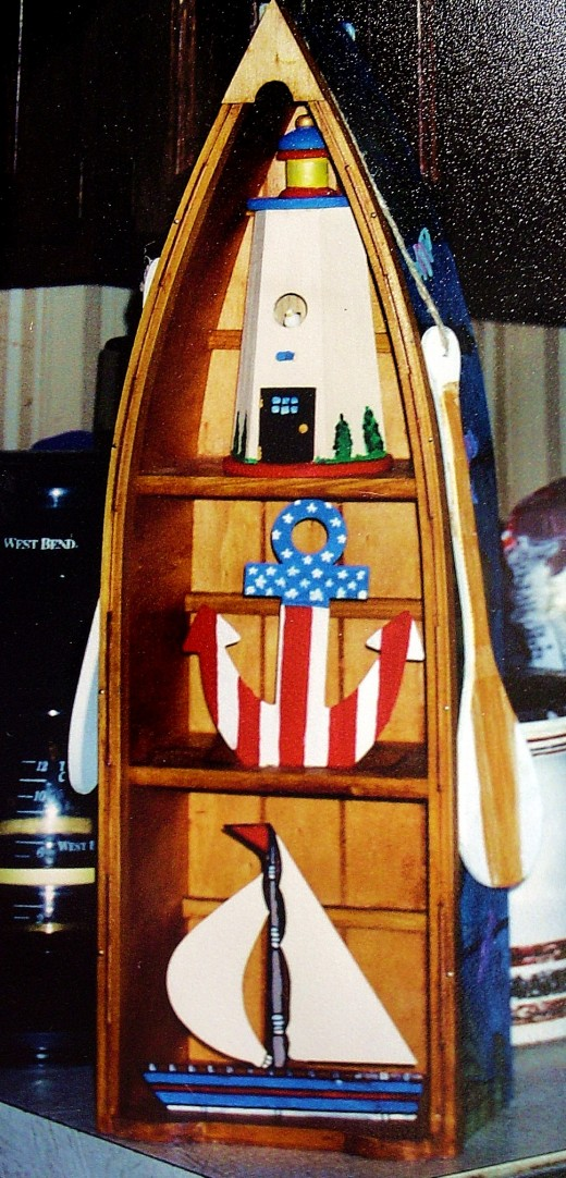 A lovely nautical themed boat knic-knac holder by a fifth grader
