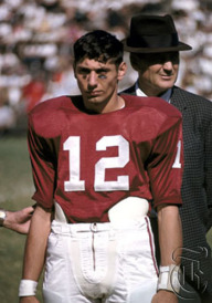"""Joe Namath played under coach Paul """"Bear"""" Bryant at the University of Alabama in the early 1960s. In three years, Namath led the Crimson Tide to a 29-4 record and three bowl appearances."""