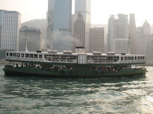 courtesy of wikipedia    Victoria Harbour -- The Star Ferry