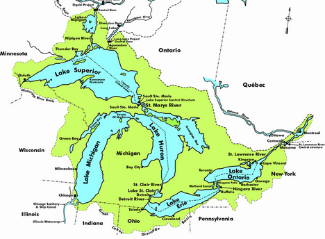 Great Lakes basin photo from treehugger.com