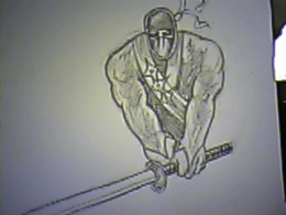 How to draw a ninja drawing tutorial.
