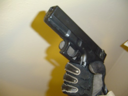 This is the CYMA 030 Airsoft electric pistol, as it is likely to be encountered on an airsoft field