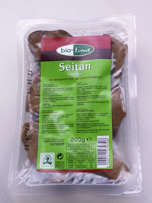 Seitan (Wheat Gluten) in package.