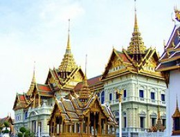 Grand Palace in Bangkok built in 1782, is the official residence of the King of Thailand -- courtesy of wikipedia