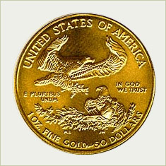 American Eagle gold coin - reverse.