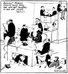 Cartoon by Bob Connolly in the Rand Daily Mail of 5 January 1956, commenting on the enlargement of the Senate.