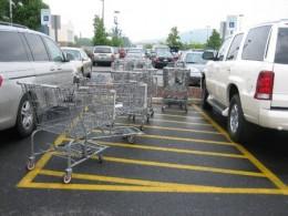 A Normal Walmart Parking Lot