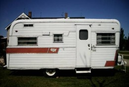 1965 Holiday Rambler.  This is the exact model we camped in.