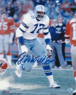 Ed Jones Autographed Ed Too Tall Jones Dallas Cowboys 8x10