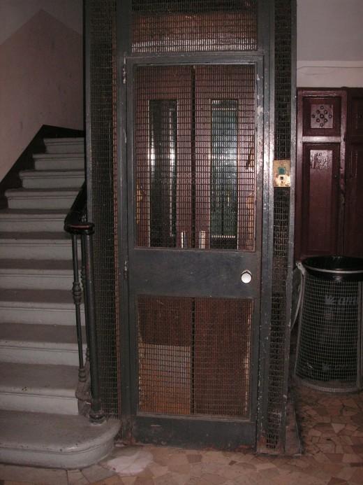 Lift (elevator) inside hotel Viennese