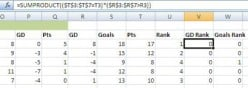 Create an Excel Football League Table