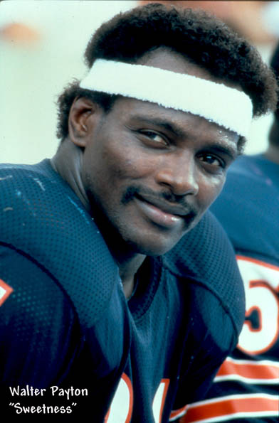 Walter Payton played 13 illustrious seasons with the Bears, retiring as the NFL's all-time leading rusher.