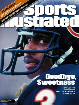 Walter Payton cover of Sports Illustrated