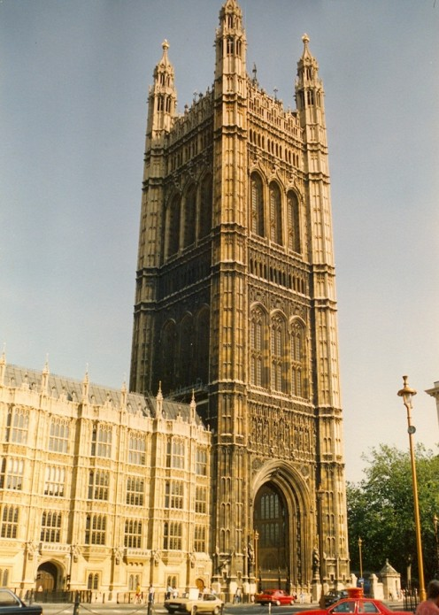 Westminster - the seat of British government which enacted laws favorable to the powerful merchant adventurers.