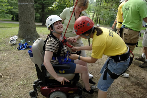 All sorts of outdoor sports are enjoyed by everyone at Joni and Friends Family Retreats. Those with disabilities are not able to enjoy many of these activities outside of Joni and Friends Family Retreats.