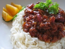 Chili over rice